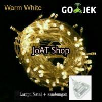 Jual tumblr twinkle lampu hias natal warmwhite warm white 10m ++ sambung Murah