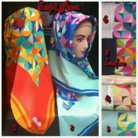 Hijab Jilbab Segi Empat, rainbow