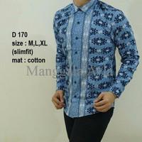 Busana Pria/Baju Batik Model Kemeja Formal/Terbaru/Sederhana