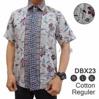 Kemeja Batik Reguler Pria/Desain Modern/Kekinian/Harga Terjangkau