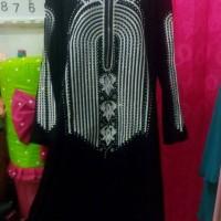 abaya gamis arab terbaru / dress swaroski swarovski bordier asli tebal