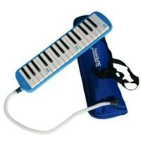 Jual Alat Musik Pianika Superpro Biru + Tas Murah