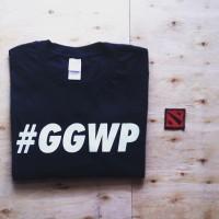 kaos tshirt dota 2 GGWP (black)