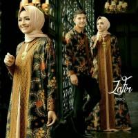 Harga baju muslim batik couple zafir hitam 1   antitipu.com