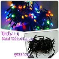 Jual Lampu natal/hias 100led kabel hitam/bening 7warna(New) Murah