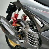 Cover Footstep Carbon Kevlar Yamaha Aerox 155