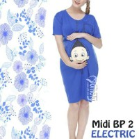 Baju Hamil Unik Midi Dress BP2 Hitam Momoty - Juni Online Shop