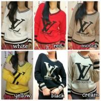 Jual Baju atasan LV/ blouse Lv fit xl/baju gucci Murah