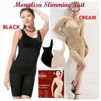 MONALISA Slimming Suit Infra Red/ Baju Pembentuk Badan jadi Langsing