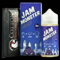 JAM MONSTER BLUEBERRY 100ML BONUS COTTON BACON BITS | PREMIUM E LIQU