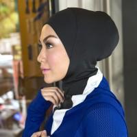 Hijab sport untuk olahraga kain lembut dan bernapas