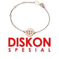 Tiaria 18K Gold Aries Zodiac Bracelet Perhiasan Gelang Emas