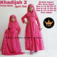 Fashion muslim Baju setelan anak Khadijah 2 ori Lava solo