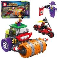 Lego Mobil Batman Movie Super Hero SY 317 SY317 The Joker Steam Roller