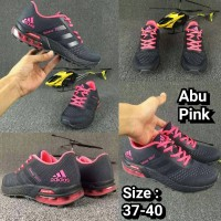 SALE CUCI GUDANG sepatu adidas galaxy 2017 abu pink woman cewek 36-38