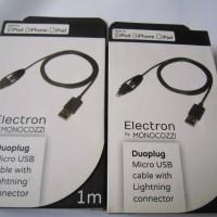 Monocozzi Duoplug Micro USB kabel dengan Conektor Lightning(1M)