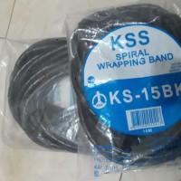 KSS SPIRAL WRAPPING BAND KS-15BK-PEMBUNGKUS KABEL