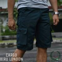 Jual Celana Cargo/ Cargopants/ Celana Kargo Biru London Murah