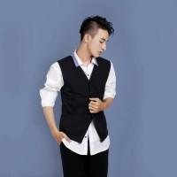 VEST PRIA EXECUTIVE - Rompi Cowok Hitam Eksmud Casual Formal Elegan