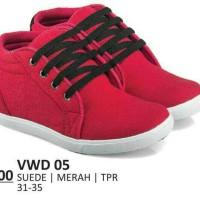 Sepatu kets anak wanita merah cantik - sekolah murah-everflow distro