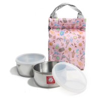 Rocket Holiday Rantang Lunch Box / Kotak Makan 2x12 cm - Pink