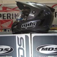 Helm Full Face Mds  Supermoto Super Pro Solid Graphite Met