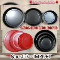 harga Loyang Cetakan Pan Teflon Kue Pie Pizza Round Bulat Garis 1set Import Tokopedia.com