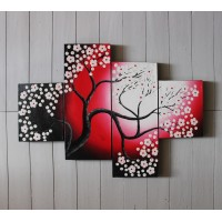 Hiasan Dinding Gambar Lukisan Bunga Set Harga Murah FAFA31