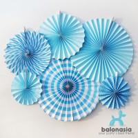 Dekorasi Pesta 6 pcs Paper Fan Exclusive High Quality