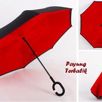 """Payung Terbalik """"C"""" Handle RED (Kazbrella), Solusi di saat hujan"""