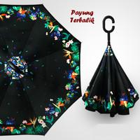 """Payung Terbalik """"C"""" Handle BLACK (Kazbrella), Solusi di saat hujan"""