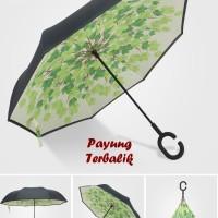 """Payung Terbalik """"C"""" Handle GREEN (Kazbrella), Solusi di saat hujan"""