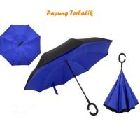 """Payung Terbalik """"C"""" Handle NAVY BLUE (Kazbrella), Solusi di saat hujan"""
