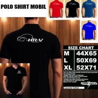 Polo Shirt Mobil HONDA HRV CROSS OVER SILUET 1/Baju Kaos Kerah
