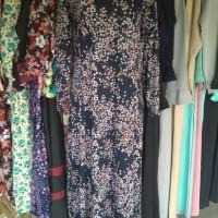 Baju Gamis Hitam Bunga Kecil 3