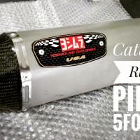 Knalpot Racing CB New 150 Yoshimura R77 SIngle Hole Sandblas Titanium