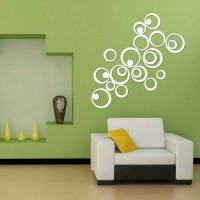 Jual Hiasan Dinding 3D lingkaran motif cermin ( 1 set 24 pcs) Murah