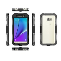 SAMSUNG NOTE 5 WATERPROOF CASE WITH PORT CHARGING TRANSPARENT BACK CAS