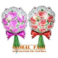 balon foil buket bunga / balon karangan bunga / balon bunga / foil