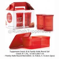 Tupperware Snack It! & Family Mate Round Set