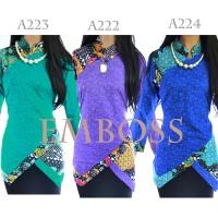 Jual Atasan Batik Tunik Blus Batik Blouse Batik Emboss A222A223A224 Murah