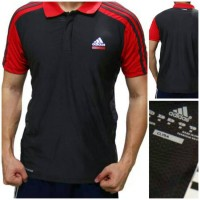 KAOS POLO SHIRT ADIDAS JKPSA8827 GREY RED 703a59d3d8