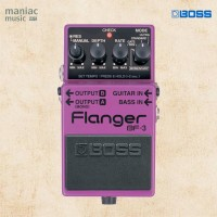 Boss BF-3 (Flanger, Stereo, 4 Mode, Pedal Efek Stompbox Guitar/Bass)