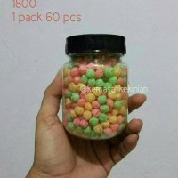 Jar/toples Bulat 200ml 60 Pcs