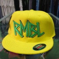 snapback RMBL yellow bordir / rumble / topi distro SID