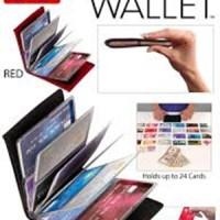 Jual Wonder Wallet / Dompet Kartu Atm Kartu Nama is 24 kulit jeruk Murah