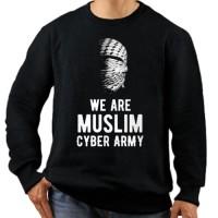 BAJU / KAOS GILDAN LENGAN PANJANG MUSLIM CYBER ARMY DISTRO