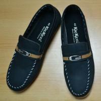 Jual Sepatu Slip On Pria Kickers Denim Black Murah