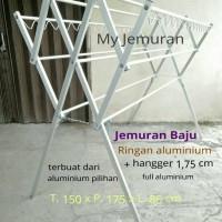 Jual Jemuran Baju Alumunium Ringan 175cm + Hanger Murah