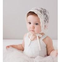Lace ribbon baby bonnet hat / Topi anak bayi gambar pita